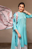 PS20-120 Dyed Embroidered Stitched Lawn Shirt & Digital Printed Dupatta - 2PC