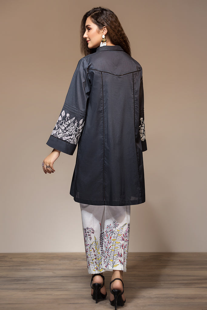 PS20-130 Dyed Embroidered Stitched Lawn Shirt & Printed Trouser - 2PC