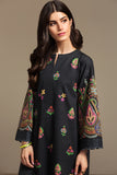 PS20-135 Printed Embroidered Stitched Slub Lawn Shirt - 1PC