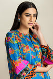 PS20-167 Digital Printed Stitched Lawn Shirt & Trouser - 2PC