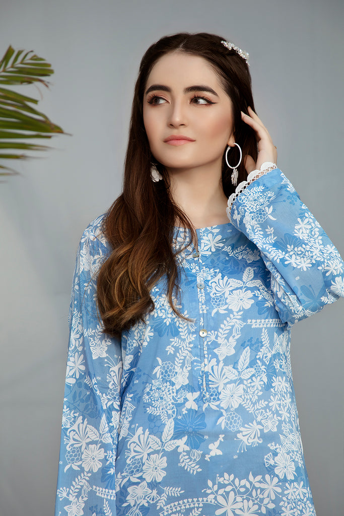 PS20-235 Printed Stitched Lawn Shirt - 1PC