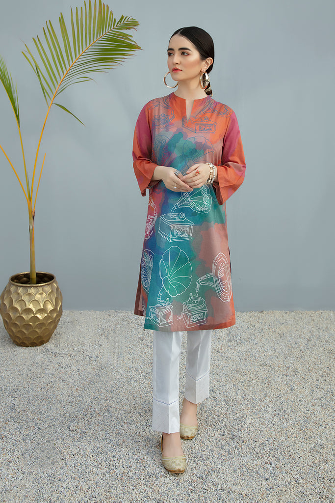 PS20-242 Digital Printed Stitched Lawn Shirt - 1PC