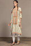 PS20-58 Digital Printed Embroidered Stitched Lawn Shirt - 1PC