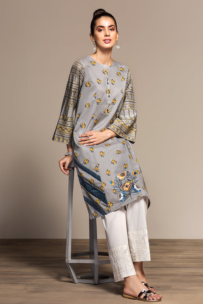 PS20-75 Printed Embroidered Stitched Lawn Shirt - 1PC