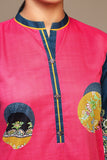 PS20-97 Digital Printed Stitched Slub Lawn Shirt - 1PC