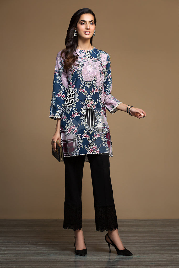 PW19-138 Pink Digital Printed Stitched Khaddar Shirt - 1PC