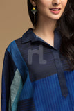 PW19-52 Blue Digital Printed Stitched Cotton Karandi Shirt - 1PC