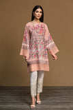PW19-82 Pink Digital Printed Stitched Sateen Shirt - 1PC