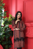 PW20-113 Embroidered Digital Printed  Stitched Linen Shirt With Mask-1PC