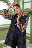 PW20-24 Printed  Stitched Khaddar Jacket with Mask - 1PC