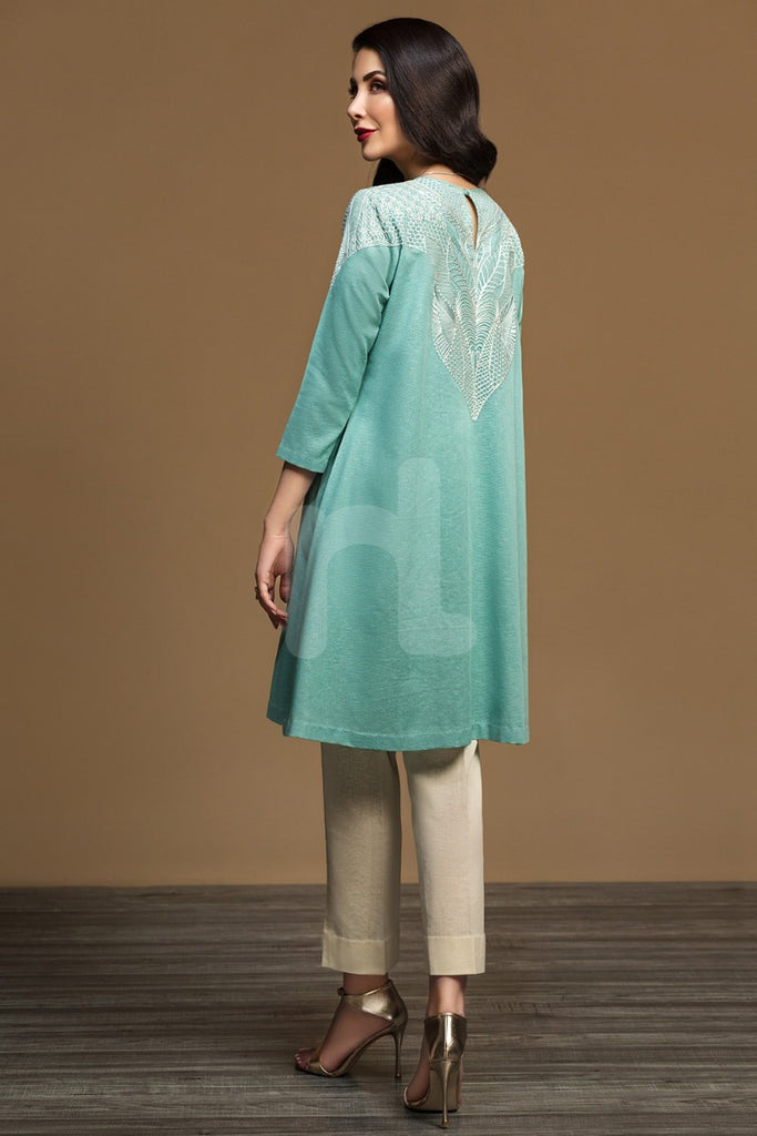 KF-554 Aqua Karandi Stitched Formal Shirt – 1PC