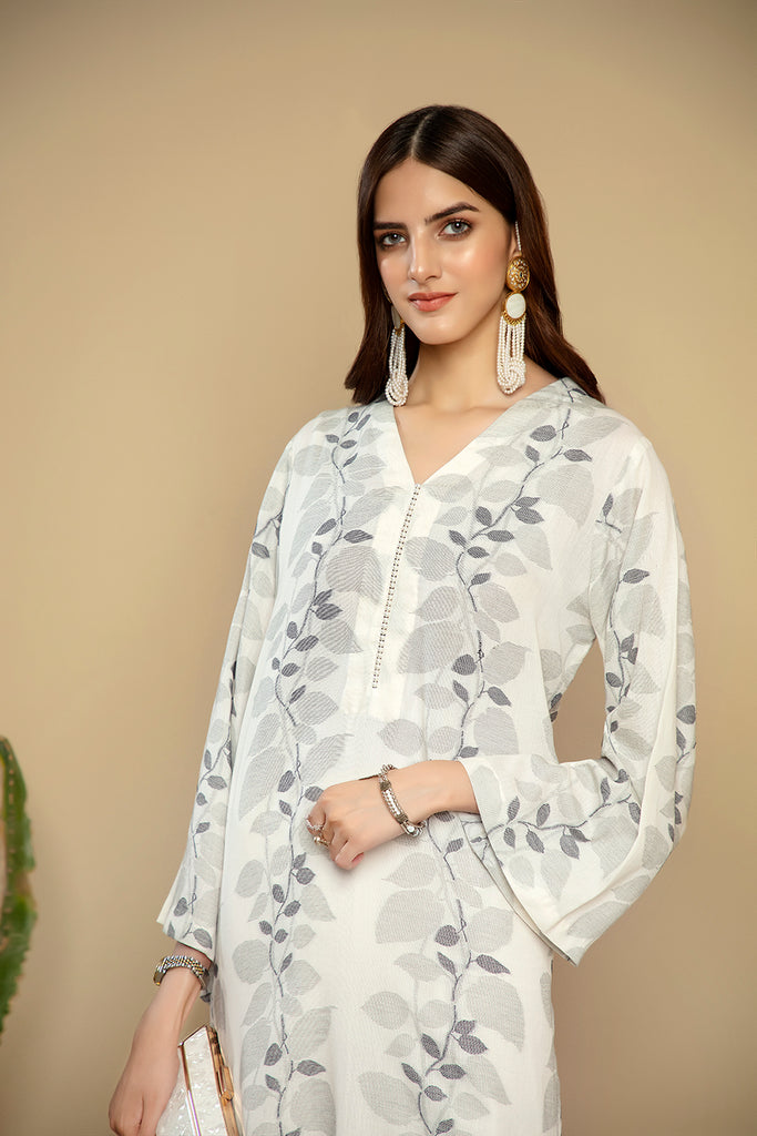 PS20-227 Printed Stitched Jacquard Shirt - 1PC