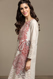 PS20-99 Digital Printed Stitched Slub Lawn Shirt - 1PC