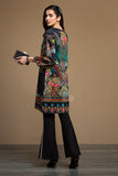 PW19-149 Black Digital Printed Stitched Sateen Shirt - 1PC