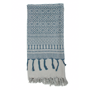 Embroidered Scarf,  Pearl Grey