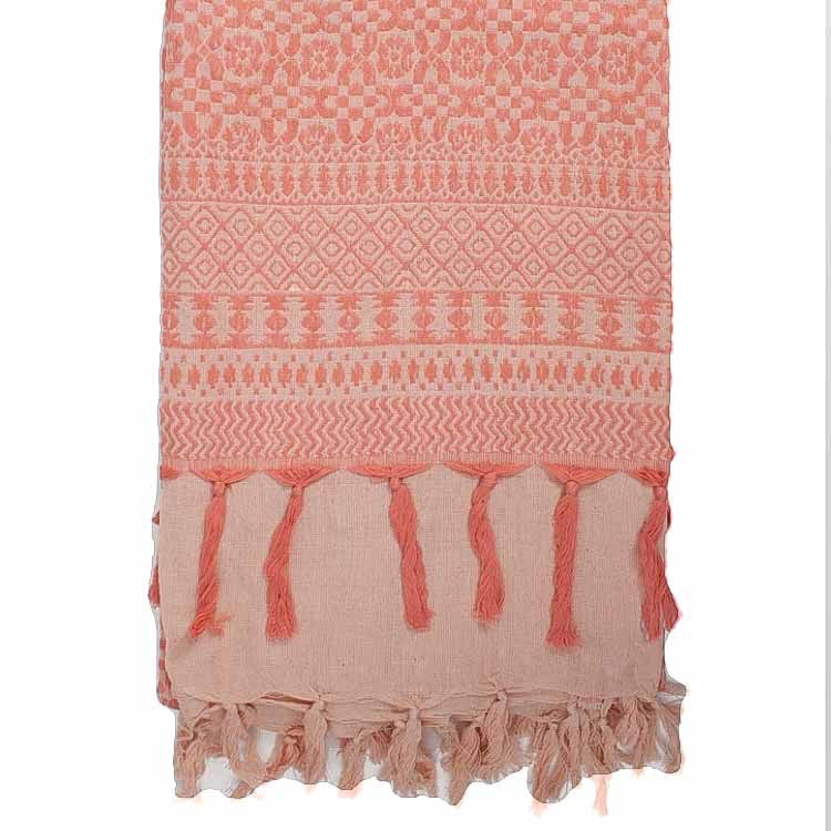 Embroidered Scarf,  Desert Rose