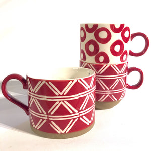 Indired Red Stoneware Cup