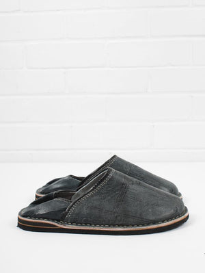 Moroccan Babouche Berber Mens Slipper Grey