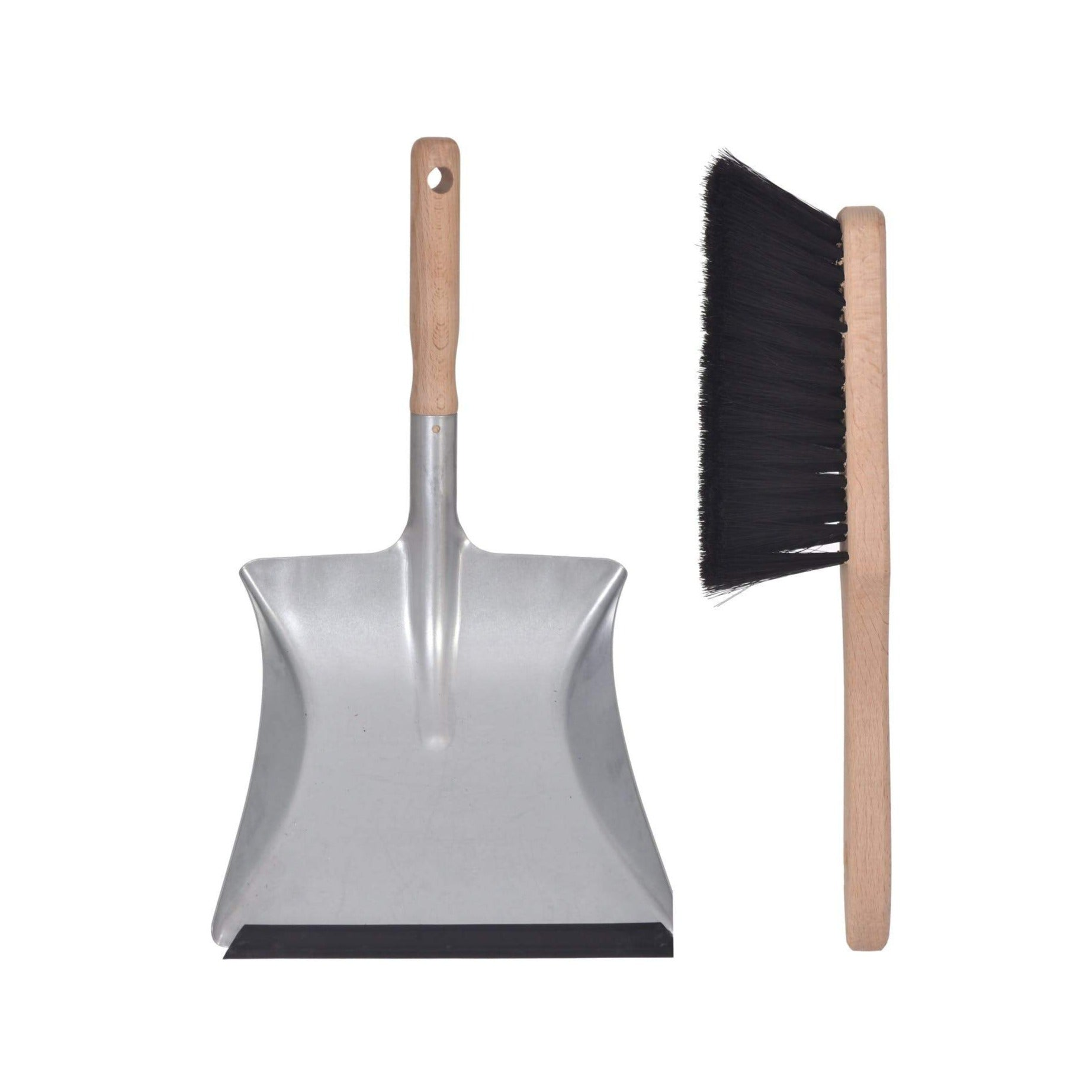 Dustpan and Brush beech & steel small