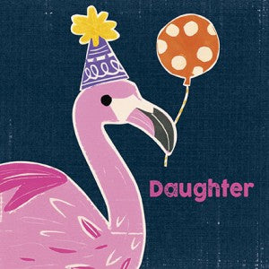 Artpress Card - Daughter - Flo the Flamingo Loves a Party