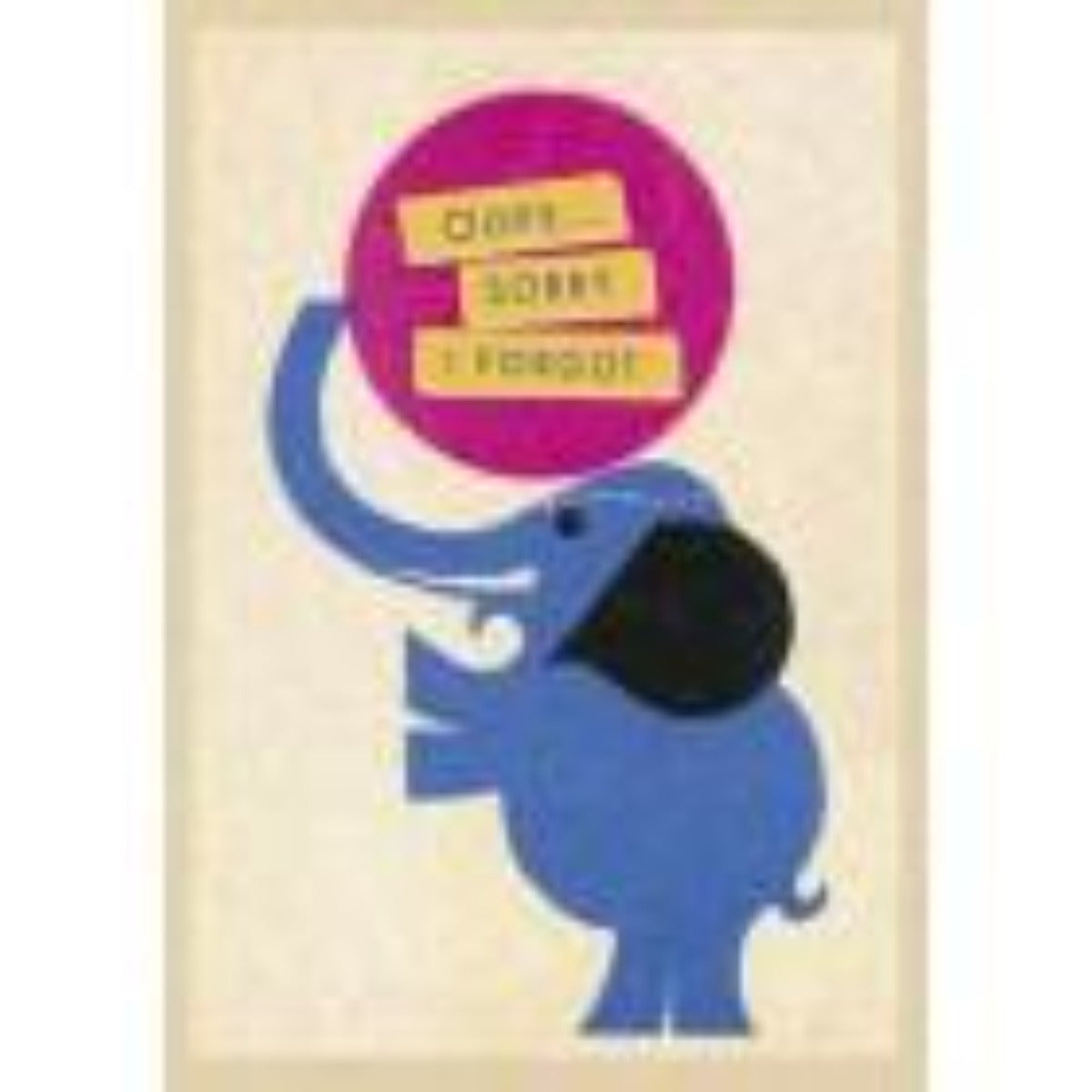 Artpress Card - Belated Birthday - Elephant Acrobat