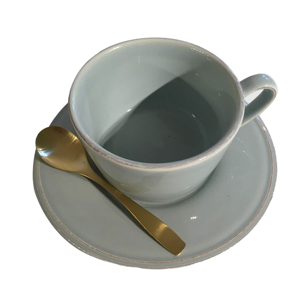 Constance Sea Green Breakfast Cup and Saucer