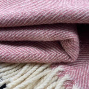 Lambswool Blanket Rose Bay