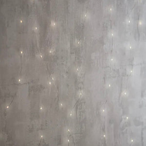 Wire Lights Curtain, Silver