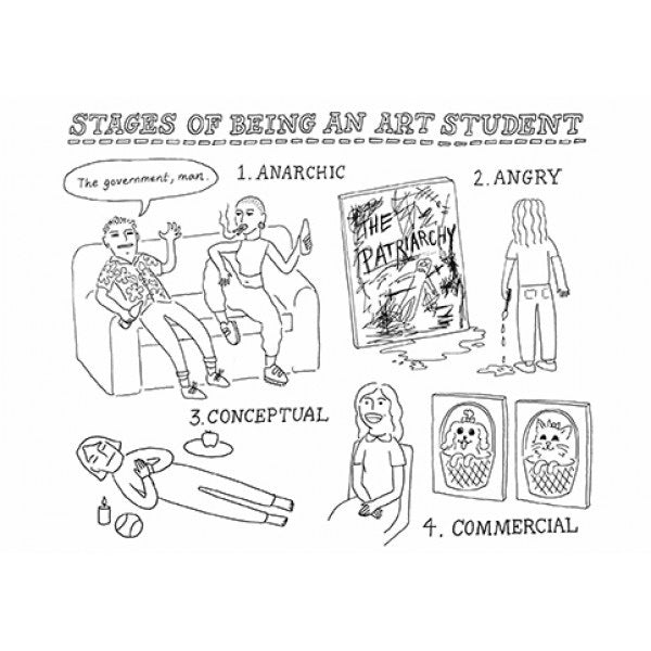 Artpress Card - Stages of Being an Art Student