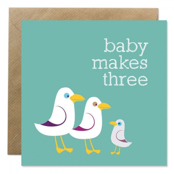 Bold Bunny Card - Baby Makes Three
