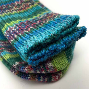 Fair Isle Long Sock Mens