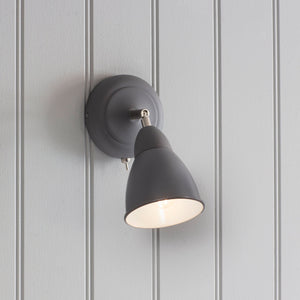 Chiswick wall light in charcoal