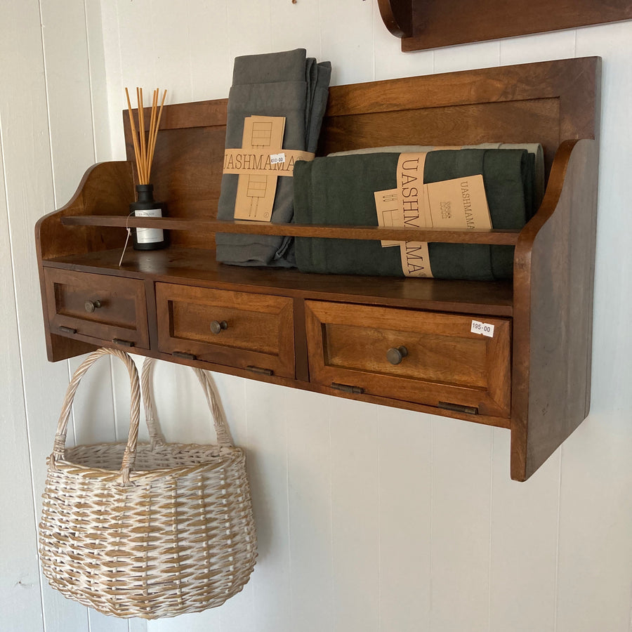 Hotelier Wall Shelf with 3 Drawers - Comptoir de Famille