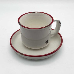 Retro Coffee Cup and Saucer