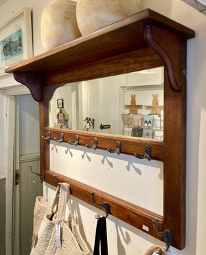 Hotelier Wall Shelf with Mirror and Hooks - Comptoir de Famille