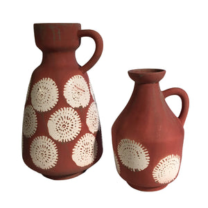 Calci Vase Pink & White