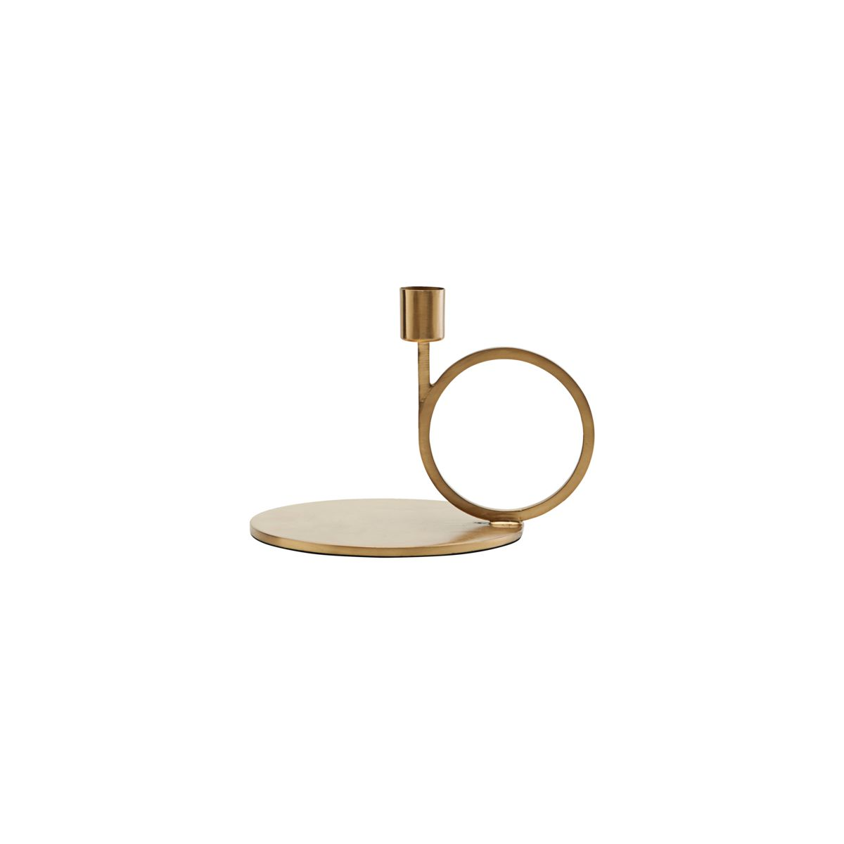 Cirque Candle Stand, Brass Finish