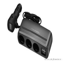 3 Way Car Charger - Ampm.pk