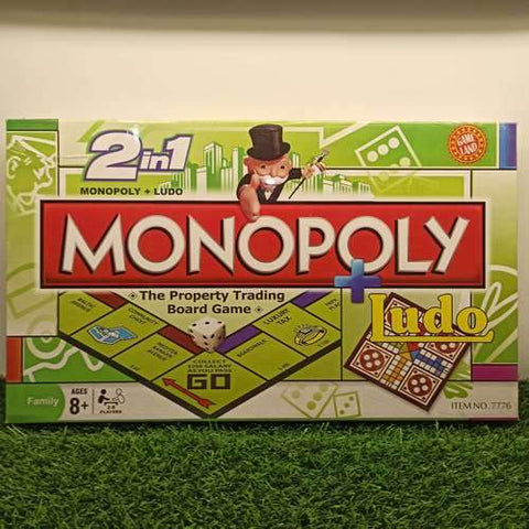 Monopoly + Ludo - 2 in 1 - Board Game
