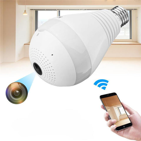 Wireless IP Hidden Panoramic Camera HD Light Bulb - Ampm.pk