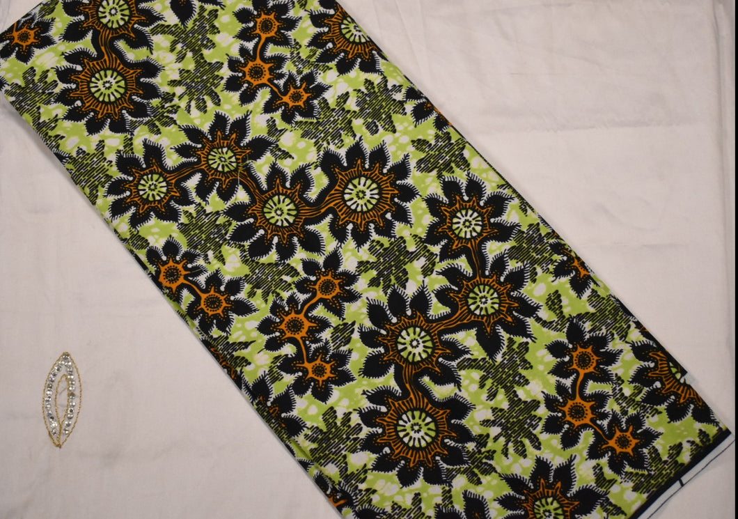 100% Cotton Block Print Ankara- 1 Yard