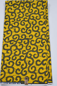 Yellow Ankara Print - 6 Yards