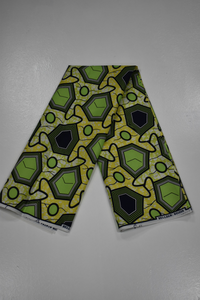 Lime Green and Yellow Ankara Print - 1 Yard