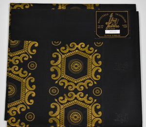 Black and Gold Super Jubilee Headtie