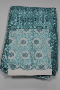 Aqua Green French Lace - 5 Yards