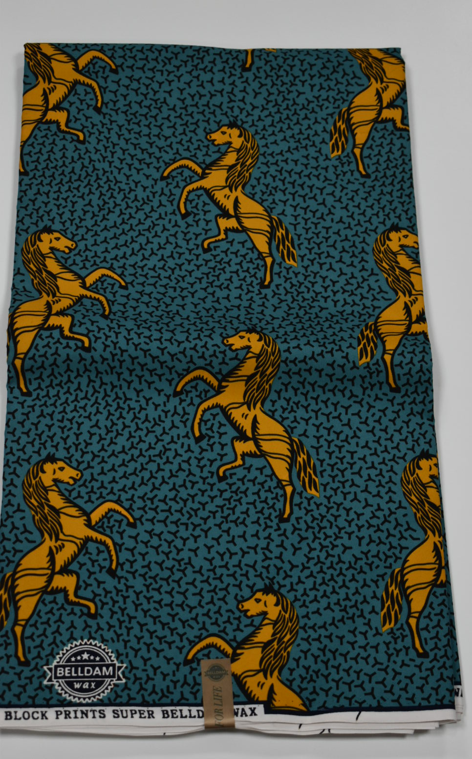 Teal Green and Yellow Ankara Print - 6 Yards