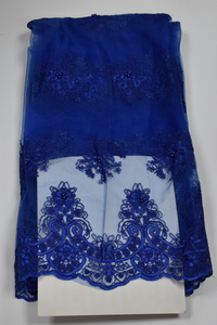 Royal Blue French Lace - 5 Yards
