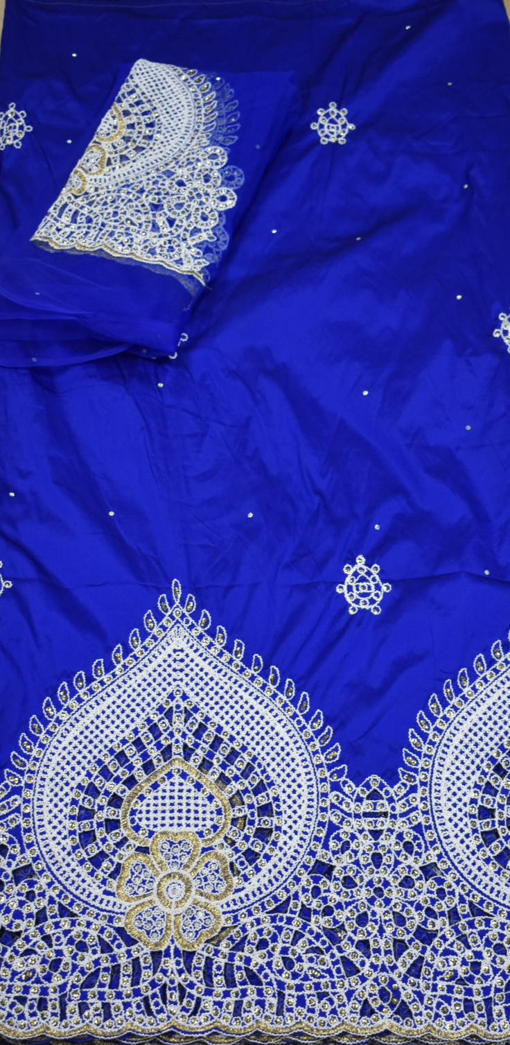 Royal Blue George with Blouse Fabric
