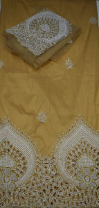 Gold George with Blouse Fabric