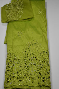 Lime Green George with Blouse Fabric